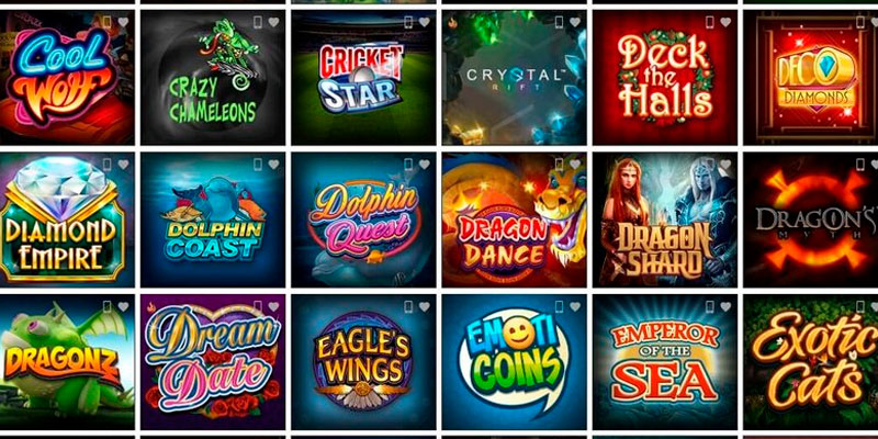 The list of online casino games