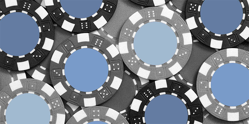 Casino chips on the table