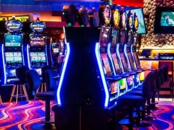 Hall with slot machines